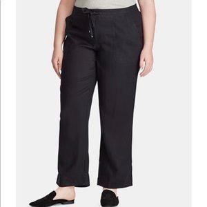 Ralph Lauren Black Linen Pants Sz 16W NWT